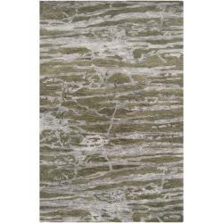 Hand-tufted Green Caparo Street Abstract Wool Rug (3'3 x 5'3)