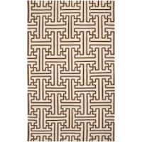 Hand-woven Beige Queens Bay Wool Area Rug (8' x 11')