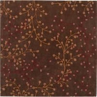 Hand-tufted Red Castara Wool Area Rug (8' Square)