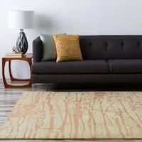 Hand-tufted Green Caparo Street Abstract Wool Area Rug - 8' x 11'