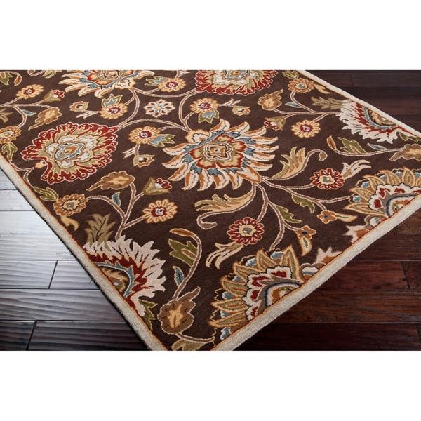 Hand-tufted Brown Kiser Wool Area Rug (9' x 12')