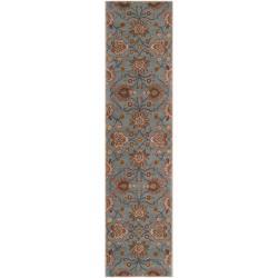 Hand-tufted Blue Kiser Wool Rug (2'6 x 8')