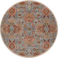 Hand-tufted Blue Kiser Wool Area Rug - 9'9