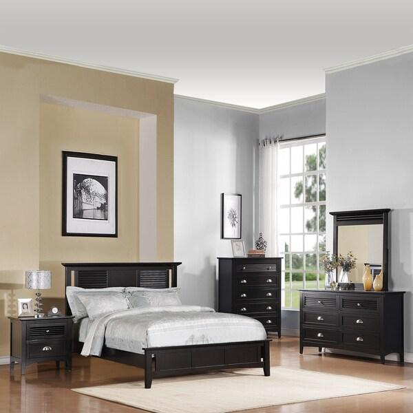 Medway Dark Cherry 5 piece Bedroom Set