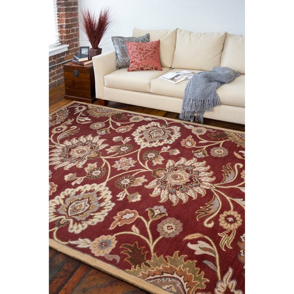 Hand-tufted Green Kiser Wool Area Rug - 9' x 12'