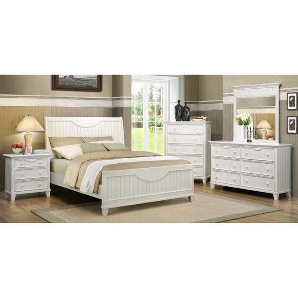 Shop tribecca home alderson cottage white 5 piece queen - Queen size bedroom furniture sets ...