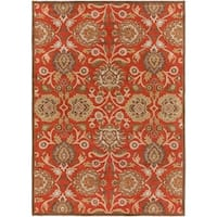 Hand-tufted Dark Red Kiser Wool Area Rug - 8' x 11'