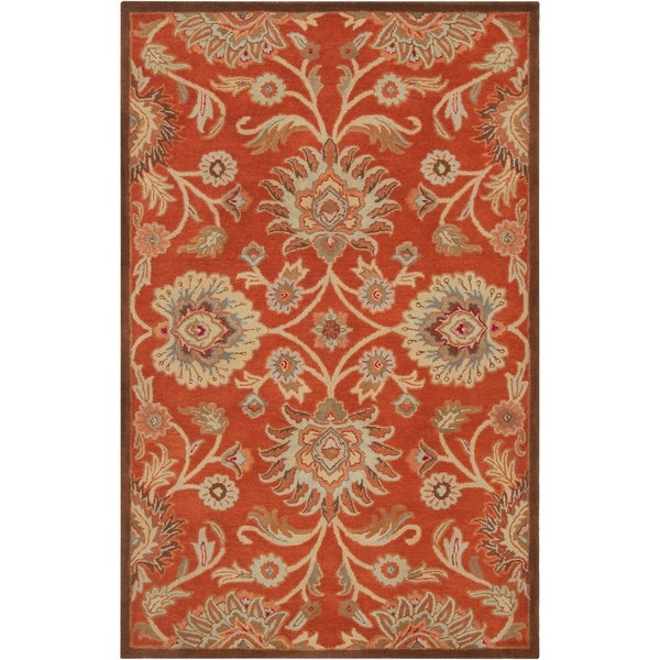 Hand-tufted Red Kiser Wool Area Rug - 9' x 12'