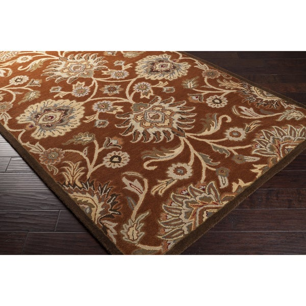 Hand-tufted Red Kiser Wool Area Rug (9' x 12')