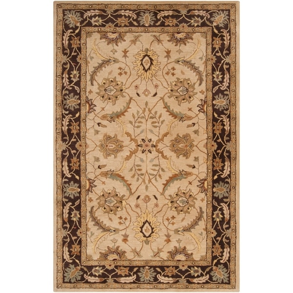 Shop Hand Tufted Beige Caven New Zealand Wool Area Rug 9 X 13