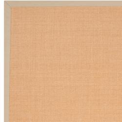 Woven Beige Hillsborough West Casual Natural-Fiber Sisal Rug (4' x 6') - Thumbnail 1