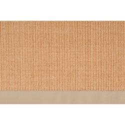 Woven Beige Hillsborough West Casual Natural-Fiber Sisal Rug (4' x 6') - Thumbnail 2