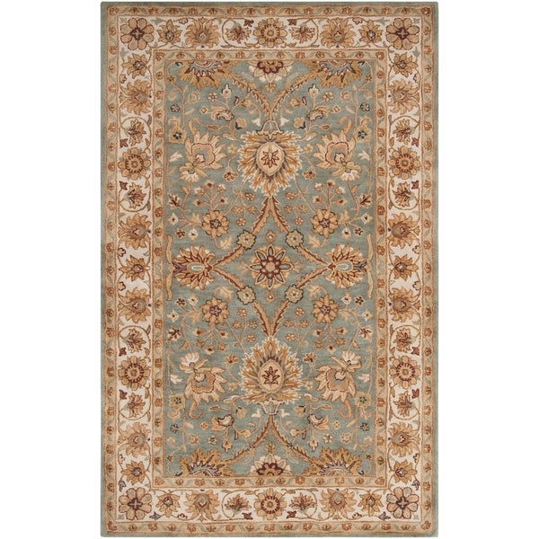 Hand-tufted Grey Caven New Zealand Wool Area Rug - 9' x 13'