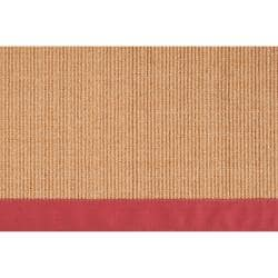 Woven Red Hillsborough West Natural Fiber Abstract Sisal Rug (9' x 12')