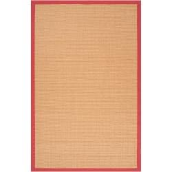 Woven Brown Hillsborough West Natural Fiber Sisal Area Rug (5' x 7'9) - Thumbnail 0