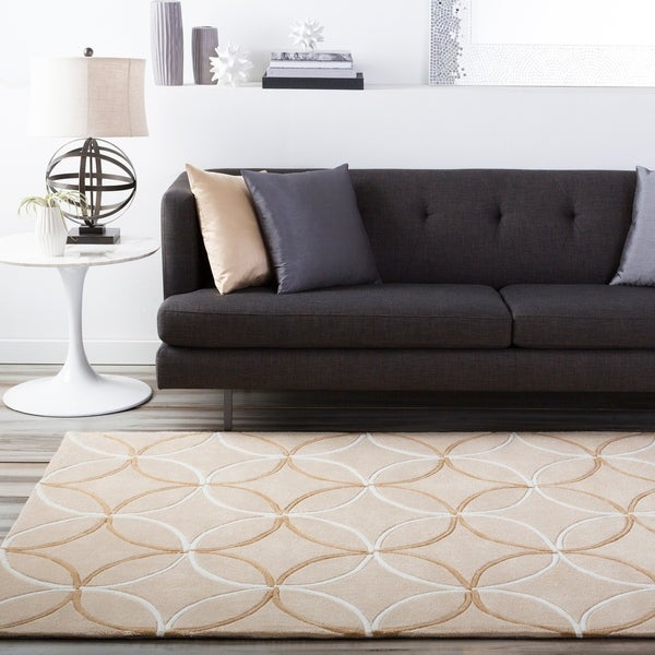 Hand-tufted Tan Hillsborough East Moroccan Tile Area Rug - 9' x 13'