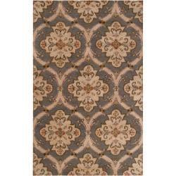 Hand-tufted Grey Roxborough Wool Rug (4' x 6')