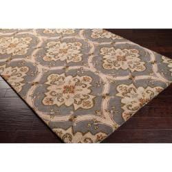 Hand-tufted Green Roxborough Wool Rug (6' x 9') - Thumbnail 1