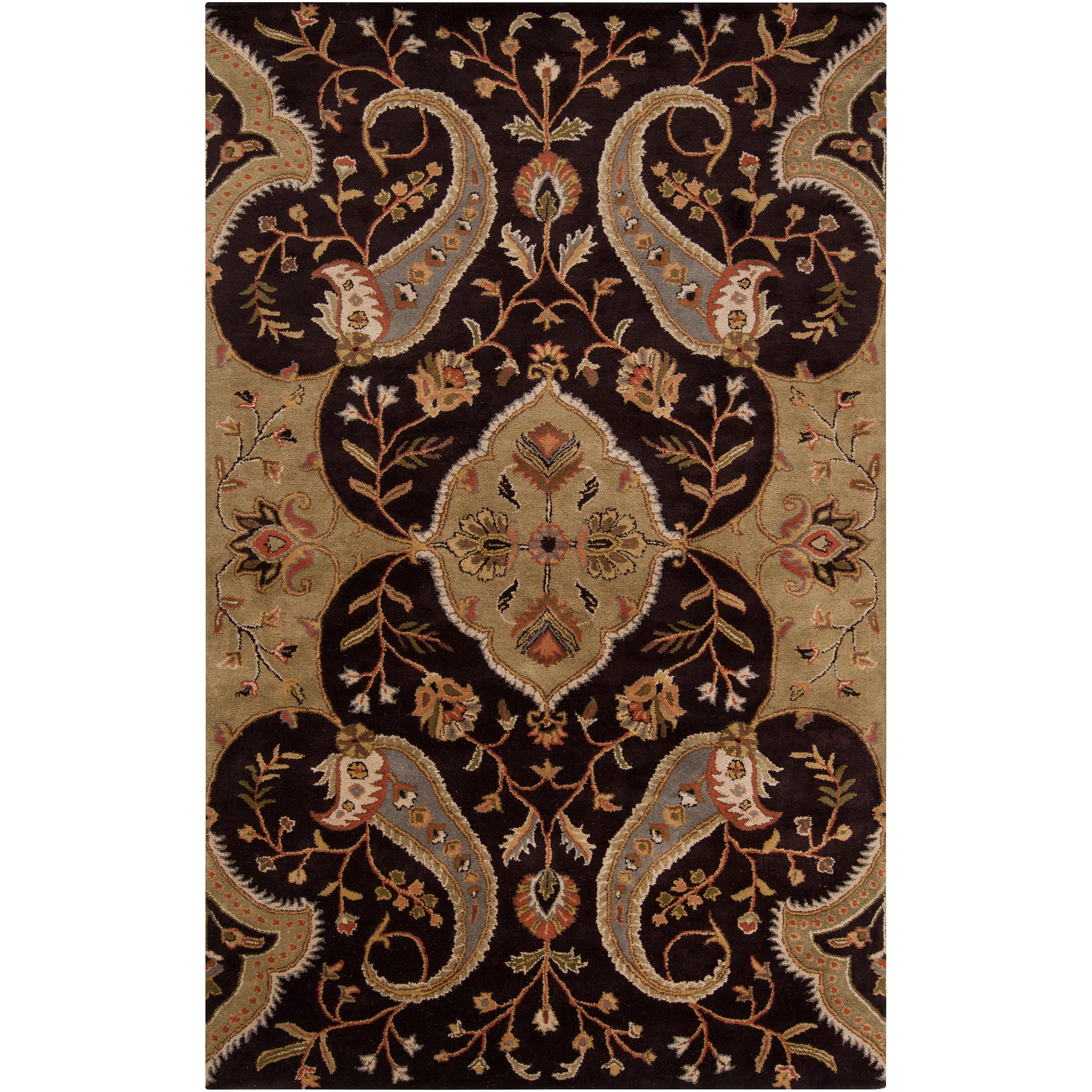 Traditional Hand-tufted Brown Roxborough Wool Rug (4' x 6')