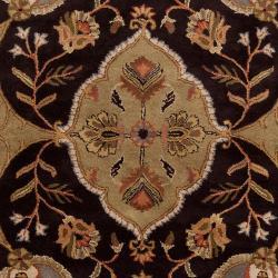 Hand-tufted Grey Roxborough Wool Rug (5' x 8')