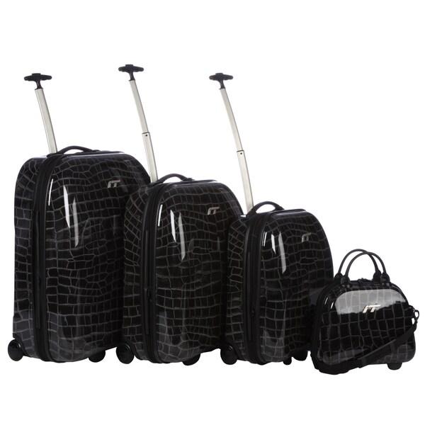 IT Croc 2-wheel 4-piece Hardside Luggage Set