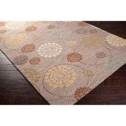 Hand-tufted Grey Belle Towers New Zealand Wool Rug (9' x 13')