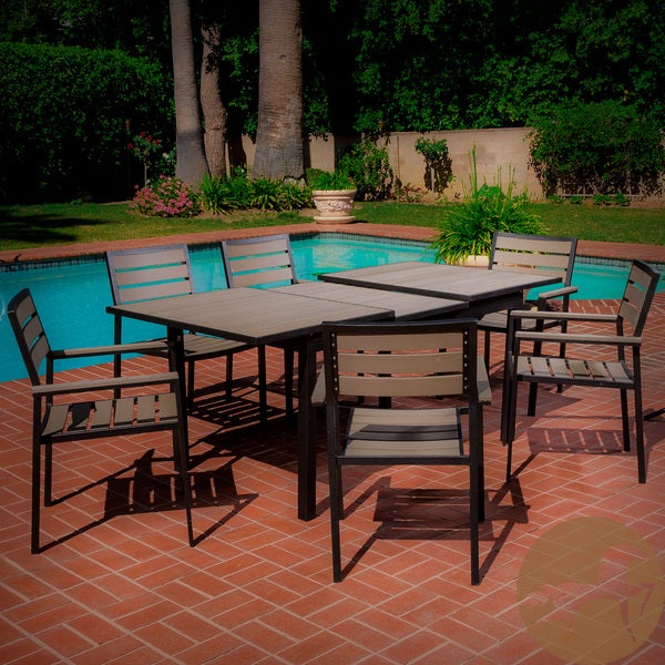 Laguna Black Frame Outdoor 7-piece Dining Set by Christopher Knight Home