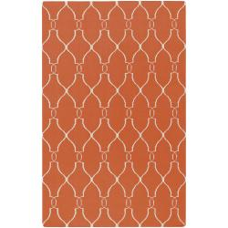 Hand-woven White Faller Wool Rug (9' x 13')