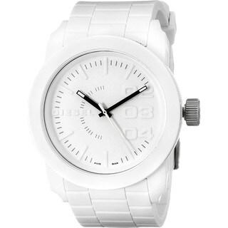 Diesel Men's Dz1436 'Double Down' White Silicone Watch