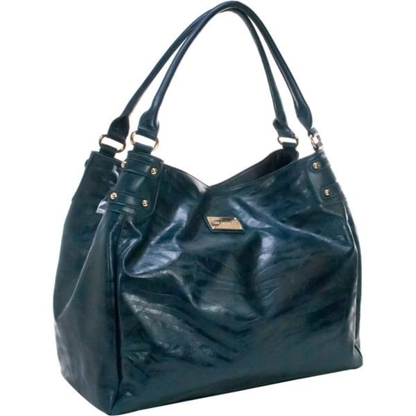 Amy Michelle Zebra Turquoise Diaper Bag