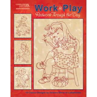 Leisure Arts-Work & Play, Redwork Through The Day