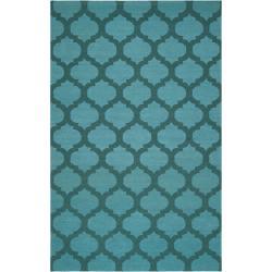 Hand-woven 'Caroni' Blue Wool Rug (5' x 8')