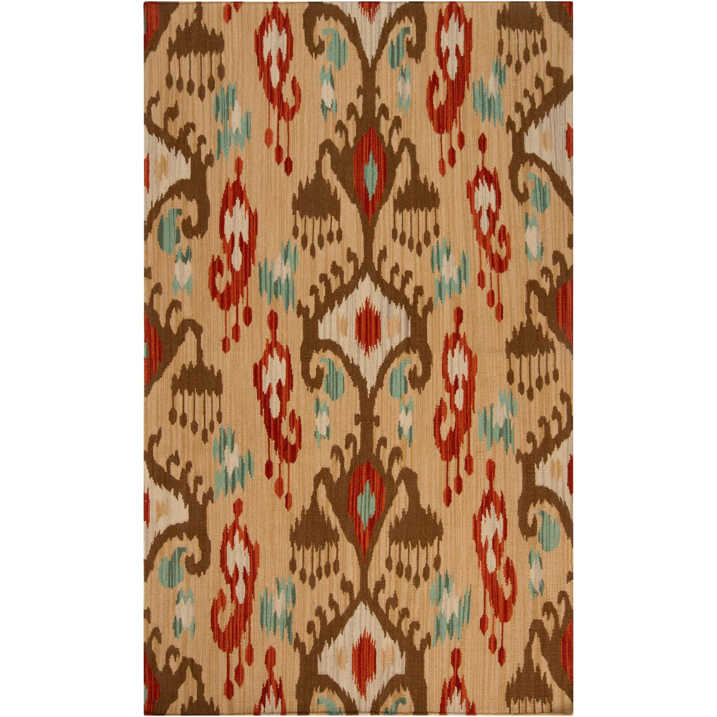 Hand-woven Tan Caroni Wool Area Rug (8' x 11')