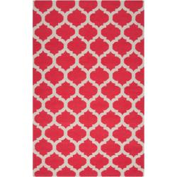 Hand-woven Red Caroni Wool Rug (3'6 x 5'6)