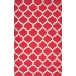 Hand-woven Red Caroni Wool Area Rug (8' x 11') - Thumbnail 0