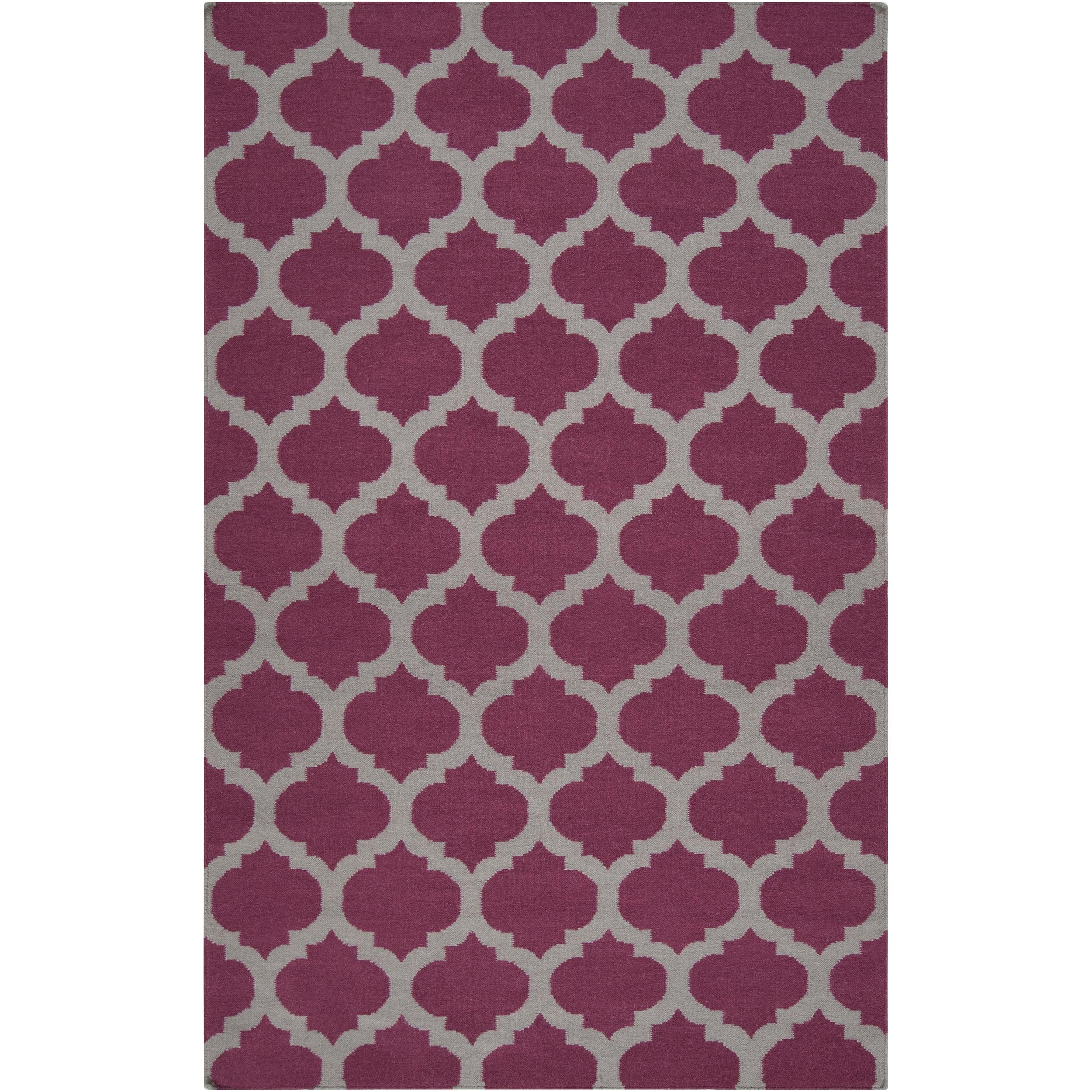 Hand-woven Purple Caroni Wool Rug (3'6 x 5'6)