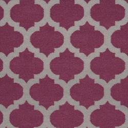 Hand-woven Purple Caroni Wool Rug (3'6 x 5'6) - Thumbnail 2
