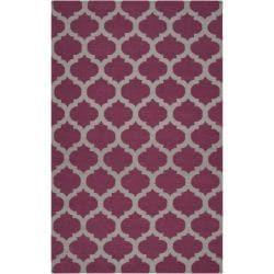 Hand-woven Purple Caroni Wool Area Rug (3'6 x 5'6) - 3'6 x 5'6 - Thumbnail 0