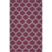 Hand-woven Purple Caroni Wool Area Rug (5' x 8')