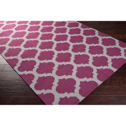 Hand-woven Purple Caroni Wool Rug (8' x 11') - Thumbnail 1