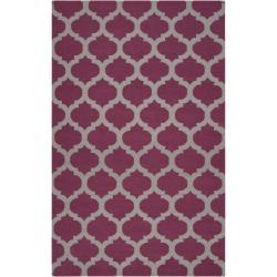 Hand-woven Purple Caroni Wool Area Rug (8' x 11') - 8' x 11' - Thumbnail 0
