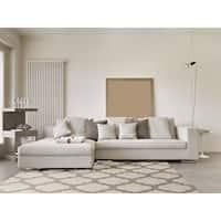 Hand-woven Ivory Moroccan Trellis Caroni Wool Area Rug - 8' x 11'