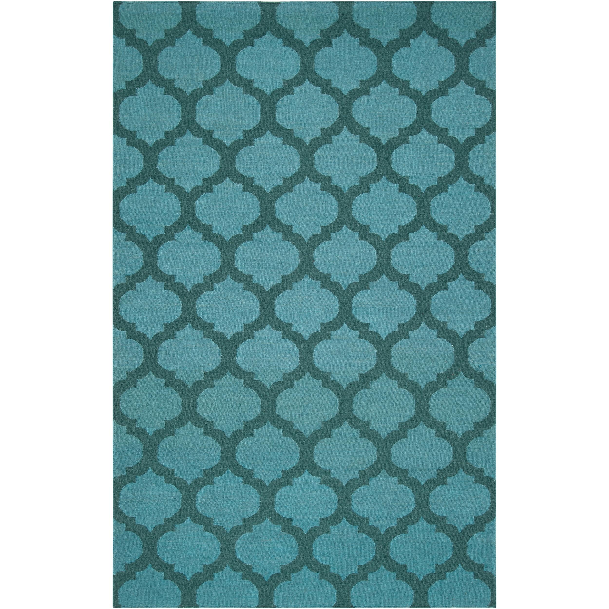 Hand-woven 'Caroni' Blue Wool Rug (8' x 11'), Size 8' x 11'