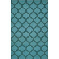 Hand-woven 'Caroni' Blue Wool Area Rug (8' x 11') - Thumbnail 0
