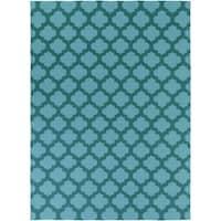 Hand-woven 'Caroni' Blue Wool Area Rug - 8' X 11'