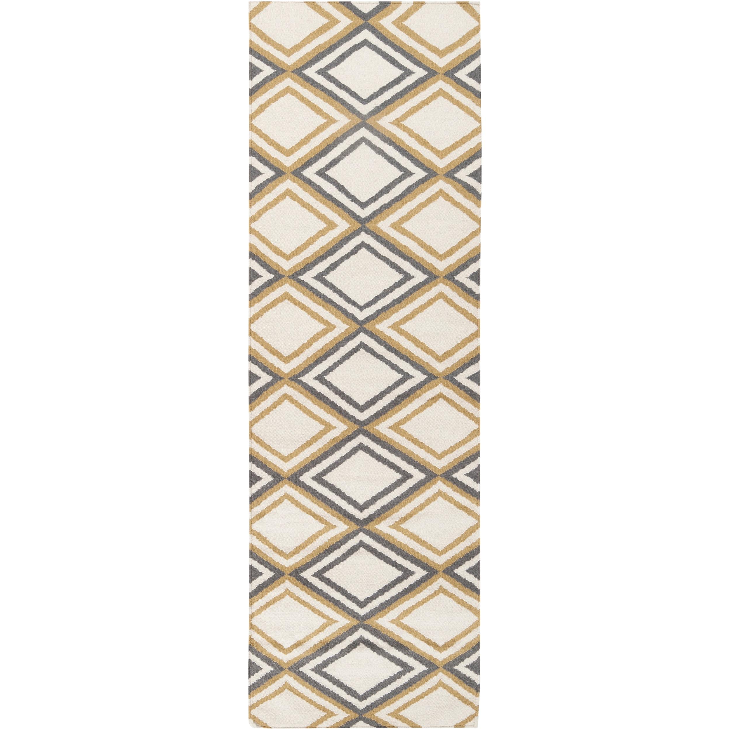 Hand-woven Caroni 'Brown' Wool Rug (2'6 x 8')