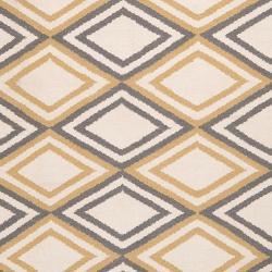 Hand-woven 'Caroni' Ivory Wool Rug (8' x 11') - Thumbnail 2