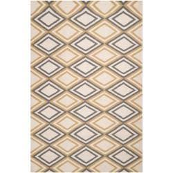 Hand-woven 'Caroni' Ivory Wool Area Rug - 8' x 11' - Thumbnail 0