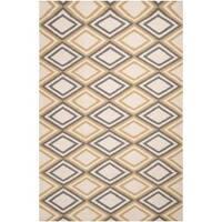Hand-woven 'Caroni' Ivory Wool Area Rug (8' x 11')