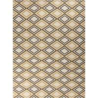 Hand-woven 'Caroni' Ivory Wool Area Rug - 8' x 11'